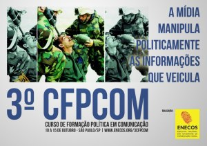 Cartaz do 3º CFPCom - SP